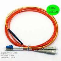 LC - SC  Mode Conditioning Fiber Optic Patch Cables Cord  MCP Customized Length Long Life span Manufactures