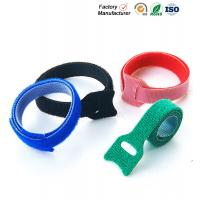Small Hook And Loop Cable Ties Down Straps , Self Adhesive Hook And Loop Closure Manufactures