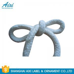 100%  Printed Flat Cotton Elastic Cord Shoelace Cotton Webbing Straps Manufactures