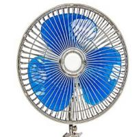 12v / 24v Car Cooling Fan 8 Inch Oscillating Fan With Full Safety Metal Guard Manufactures