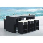 wicker rattan patio dining chair/ stockable garden armchair Manufactures
