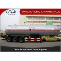 55 Cubic LPG Tank Trailer  Medium Pressure Round Shape Steel Tank Body Manufactures