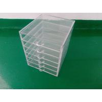 China 6 tiers clear acrylic makeup organizer with drawers on sale