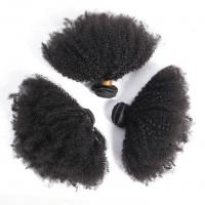 China 100% Brazilian Human Virgin Hair For Black Women / Afro Kinky Curly Bundles on sale