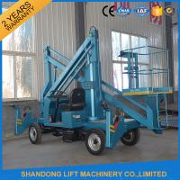 Commercial Hydraulic Articulated Trailer Boom Lift Rental , 8m Rotating Truck Mounted Aerial Lift Manufactures