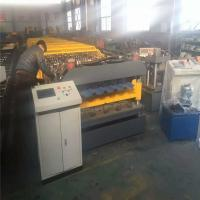 Metal Corrugated And Trapezoid Roofing Sheet Roll Forming Machine , Roofing Tile Roll Forming Equipment Manufactures
