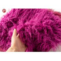China Toys Mongolian Fur Fabric , Upholstery Super Luxury Faux Fur Fabric Hometextile on sale