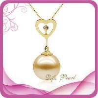 Valentine Day Themed 18kt Gold Heart Shape Southsea Pearl Jewelry Pendant (HP10149) Manufactures