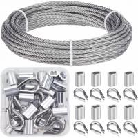 Cable Railing Kits 316 Stainless Steel Wire Rope & Fittings Includes 1/8 Inch X 33 Feet Manufactures