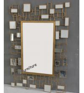 China Unique Design Mirror Art Wall Decor, Rectangle Modern Mirrored Wall Art on sale