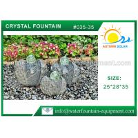 Artistic Cast Stone Garden Fountains Polished Surface With Three Crystal Glass Balls Manufactures