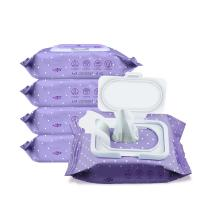 China Smooth Surface Makeup Cleansing Wipes , Oil Free Makeup Wipes Disposable Healthy on sale