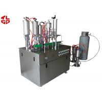 Aerosol Spray Filling Machine , Automatic Spray Painting Machine Suppliers Manufactures