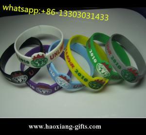 standard 202*12*25*2mm bulk custom silicone bracelet/silicone wristband