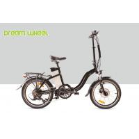 Black 10.4Ah Electric Folding Cruiser Bicycle 36V 20 Inch With Disc Brake Manufactures