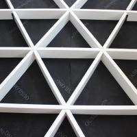 Roller Coating Indoor Aluminum Triangle Grid Metal Ceiling Panel For Shopping Hall Manufactures