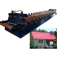 4 KW Hydraulic Cutter Glazed Roll Forming Machine / Tile Forming Machine Manufactures