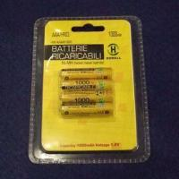 Rechargeable AAA Consumer NiMH Battery in Blister Card Packing, with 1,000mAh Capacity/CE/RoHS Marks Manufactures