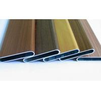 Wood color customized aluminum extrusion oval tube as per drawings Manufactures