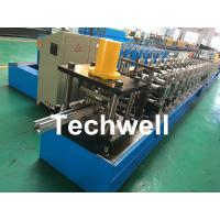 Galvanized Steel / PPGI Guide Rail Roll Form Machines With Hydraulic Punching Device Manufactures