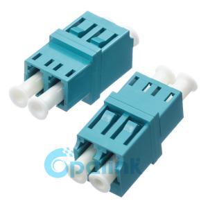 LC-LC Plastic Square Type Duplex Multimode OM3 Fiber Optic Adapter OPELINK Manufactures