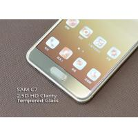 Ashai Glass Cell Phone Screen Protectors , Samsung C7 Oleophobic Coating Screen Protection Manufactures