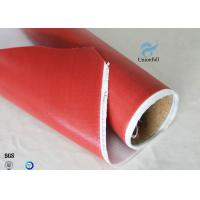Buy cheap 1.5m Wide 0.45mm Silicone Coated Fiberglass Fabric 80g Single Side Chemical from wholesalers