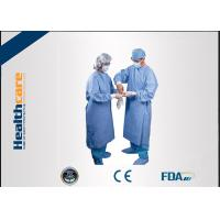 Water Resistant Disposable Surgical Gowns SMS Standard Medical Blue With Knitted Cuff Manufactures
