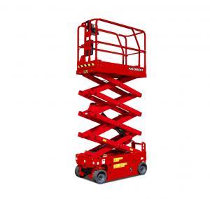 25ft Height Lift Safety Single Man Electric Scissor Lift , Motorized Scissor Lift Manufactures