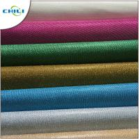 Genuine Glitter Leather Fabric , Glitter Cotton Fabric For Handbags 1mm Thick Manufactures