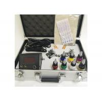 Quality 7 Colors Ink 2 Machine Guns Permanent Makeup Tattoo Kit With Aluminum Box for sale