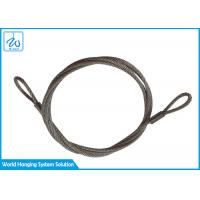 6mm 7x19 Stainless Steel Wire Rope Slings Eye & Eye For Aircraft Cable Display System Manufactures