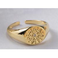 China Retro Pattern Round Jewelry Sterling Silver Rings For Women 9mm Width on sale