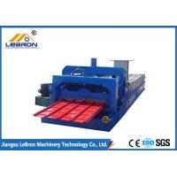 High Performance Color Steel Tile Roll Forming Machine 10-16m/min Stable Transmission Manufactures