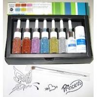 Body Art Glitter Temporary Tattoo Kit with 12 Colors Tattoo Ink Manufactures