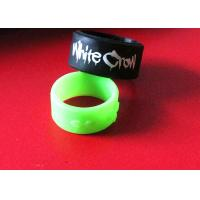 China Mini Size Custom Livestrong Bracelets , Debossed Silicone Bracelets 66mm 73mm Length on sale