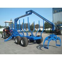 forestry machine timber ATV log trailer for tractor with crane with grapple Manufactures