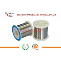 China Nicr80 / 20 Nicr Alloy Wire Smooth Surface For Metal Film Resistor Coating on sale