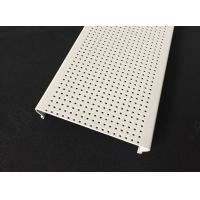 Micro - perforated C- shaped Aluminium Strip Ceiling , Acoustic Ceiling Panels Traffic white Color Manufactures