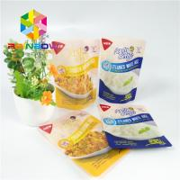 China Zipper Plastic Pouches Packaging Printed Vacuum Food Sauce Retort Stand Up Bag on sale