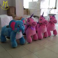 Hansel shopping mall indoor rides stuffed electric animal scooters for sale Manufactures