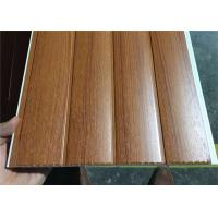 Vinyl Wood Wall Paneling Sheets , Pvc Bathroom Ceiling Cladding Groove Design Manufactures