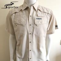 Buy cheap 100% Polyester Ripstop Mens Fishing Shirts Waterproof For Summer from wholesalers