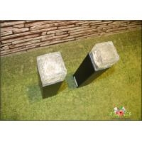 Iron Ice Bollard Square Solar Outside Lights / Solar Powered Decking Lights Manufactures