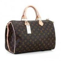 Oxidizing Leather Canvas LV Monogram Handbags Speedy 35 with Shoulder Strap Manufactures