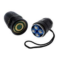 High Performance Rechargeable LED Flashlight Extreme Bright 4 * 18650 Batteries Manufactures