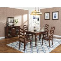 Rubber Wood Home dining room furniture Long and round dining table with 4/6 people Chair can by Upholstered cushion seat Manufactures
