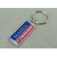 Die Casting 3D Hard Promotional Keychain Misty Nickel 2.0 Inch Custom Manufactures
