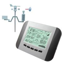100M Professional Weather Station Thermometer Humidity Rain Pressure Data Recorder With PC Solar Power Wireless Weather Manufactures