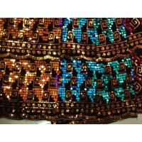 Spangle Sequin Embroidered Fabric Nylon Mesh For Dancewear Manufactures